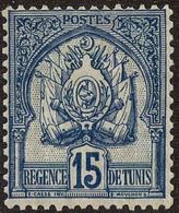 Tunisia Scott #15, 1888, Hinged - Tunisie (1888-1955)