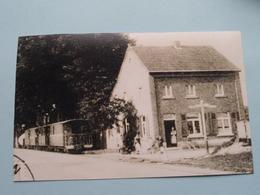 NEERHAEREN Steenweg Met Stoomtram +/- 1930 ( REPRO - COPY Van Postkaart Of Foto / Details Zie Foto ) ! - Lanaken