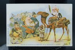 Carte Postale Illustrateur Afrique Du Nord - Algérie Assus Arrivée De Monsieur Le President De La Republique à Londres - Autres Illustrateurs