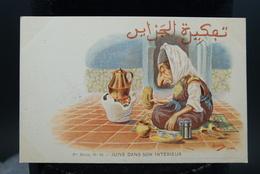 Carte Postale Ancienne Caricature Illustrateur Afrique Du Nord - Algérie Assus Juive Dans Son Intérieure - Illustrateurs & Photographes
