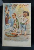 Carte Postale Ancienne Caricature Illustrateur Afrique Du Nord - Algérie Assus Marchand De Poisson - Illustrateurs & Photographes