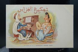 Carte Postale Ancienne Caricature Illustrateur Afrique Du Nord - Algérie Assus Concert Arabe Duo - Illustrateurs & Photographes