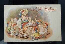 Carte Postale Ancienne Caricature Illustrateur Afrique Du Nord - Algérie Assus école Arabe - Illustrators & Photographers