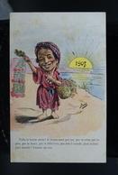 Carte Postale Ancienne Caricature Afrique Du Nord  Algérie Assus Boune Annie Bonne Année 1908 - Illustrateurs & Photographes