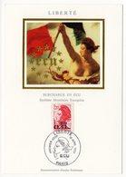 Carte Maximum 1988 - Type LIBERTÉ De Delacroix - Valeur 0,31 ECU - YT 2530 (Réf 18-992) - 1980-89