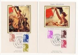 Carte Maximum 1982 - Type LIBERTÉ De Delacroix - Série De 6 Valeurs - YT 2239 à 2244  (Réf 18-989) - FDC