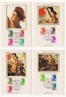 Carte Maximum 1982 - Type LIBERTÉ De Delacroix - Série De 13 Valeurs - YT 2178 à 2190  (Réf 18-990) - Cartes-Maximum