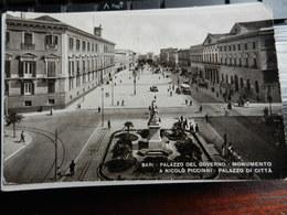 19837) BARI PALAZZO DEL GOVERNO MONUMENTO PICCINI PALAZZO DI CITTA' VIAGGIATA 1942 - Bari
