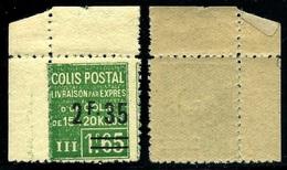 France Colis-Postaux N° 94 Neuf **  Coin De Feuille - TTB Qualité - Colis Postaux