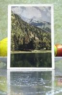 Georgia, USSR Soviet Postcard 1953 Teberda / Mountain Lake Kara-Kel Landscape Real Photo - Georgia