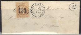 Arc En Barrois (50) : LAC, GC 133, Càd 16, OL (origine Locale), Lauré N°28, 1870 - Marcophilie (Lettres)