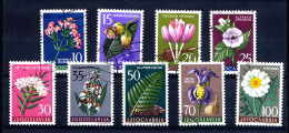 YOUGOSLAVIE JUGOSLAVIA 1957, FLORE MEDICINALE, 9 Valeurs, Oblitérés / Used. R031 - Heilpflanzen