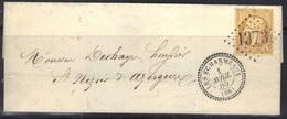Les Echarmeaux (68) : LSC, GC 1373, Càd 22, Dentelé N°21, 1865. - Marcophilie (Lettres)