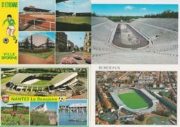 Lot De 12 CPM Stades De Foot, Rio, Munich, Helsinki, Athènes, Bordeaux, St Etienne, Nantes, Barcelone, Paris St Den - Football