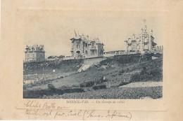 76. MESNIL- VAL. CPA. RARETÉ. UN GROUPE DE VILLAS. ANNÉE 1915 + TEXTE - Mesnil-Val