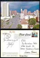 EC [00093] - RHODESIA ZIMBABWE - SALISBURY- RHODESIA. JAMESON AVENUE FACING EAST THE BUILDINGS OF THE CITY STAND - Zimbabwe
