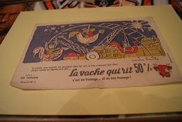LOT ANCIEN BUVARD *la Vache Qui Rit / Serie Les Forains Signe Corinne Baille - Blotters
