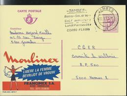 Publibel Obl. N° 2673 (Moulinex Libère La Femme; Mon Oeil??) Obl. Jambes 22/03/77  + Flamme Solarium, Golf - Publibels