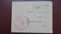 Lettre En Franchise Militaire FFI Bataillon Peri ( Communistes ) Bourges Octobre 1944 Pour Noirlac Cher - Storia Postale
