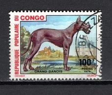 CONGO   N° 350  OBLITERE  COTE  1.10€   CHIEN  ANIMAUX - Congo - Brazzaville