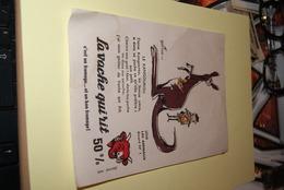 LOT-ANCIEN-BUVARD-la-vache-qui-rit-serie-les-animaux-signe-beuville - Colecciones & Series