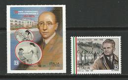 """2018 ITALIA - """"Carlo Besta"""" In Milano + VITTORIO POZZO Calcio - Adesivo E NON - 6. 1946-.. República"""