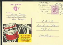 Publibel Obl. N° 2661 ( MIRARGENT; Peinture Aluminium) Obl. Ciney; Capitale Du Condroz (1976) - Stamped Stationery