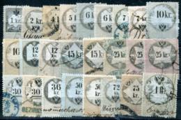 AUSTRIA 1858-66 - 25 Revenue Stamps 1Kr-1 Fl (all VF) - Steuermarken