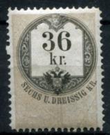 AUSTRIA 1866-68 - 36Kr Revenue Stamp Unused With Gum (MNH) Perf.12 - Revenue Stamps