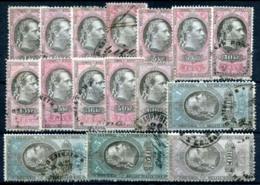 AUSTRIA 1877 - 16 Revenue Stamps 1Kr-10 Fl (all VF) - Steuermarken