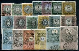 AUSTRIA 1888 - 19 Revenue Stamps 1Kr-5 Fl - Steuermarken