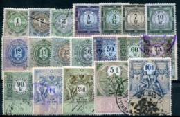 AUSTRIA 1885 - 19 Revenue Stamps 1Kr-10 Fl - Steuermarken