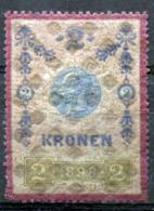 AUSTRIA 1898 - 2 Kr Unused Revenue With Orig. Gum (MNH) Rare - Revenue Stamps