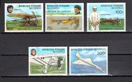 CONGO   N° 471 à 475  OBLITERES  COTE  3.00€  AVION - Congo - Brazzaville