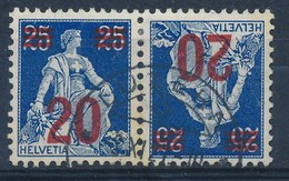HELVETIA - Mi Nr K 16 - Gest./obl. - Cote 14,00 € - (ref. 546) - Se-Tenant