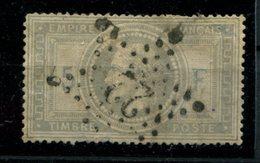 1869 Napoléon III    32 F 5 Fr Violetto Grigiastro USATO  SECONDA SCELTA  CATALOGO 1200€ - 1863-1870 Napoleone III Con Gli Allori