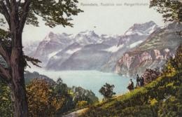Werbe AK - Morschach - AXENSTEIN - Ausblick Vom Säumerweg Am Margarithahain - SZ Schwyz