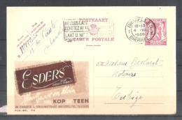 """EP Belgique Publibel 714 """" Esders , Kleedt Groot En Klein """" - Bruxelles 1948 - Entiers Postaux"""