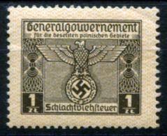 GG 1939 Butchery Permit #2 MNH (VF) Rare - Fiscali