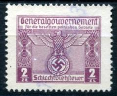 GG 1939 Butchery Permit #3 Used (VF) Rare - Fiscali