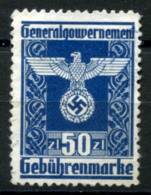 GG 1943 General Issue #29 MNG (VF) - Fiscales