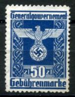 GG 1943 General Issue #29 MNG (VF) - Steuermarken