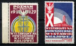 POZNAN 1929 Intl. Fair Two Labels (MNH) Rare - Polen