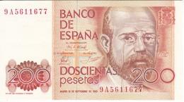 BILLETE DE ESPAÑA DE 200 PTAS DEL AÑO 1980 DE LA SERIE 9A SUSTITUCION EN EBC  (XF)  (BANKNOTE) - [ 4] 1975-… : Juan Carlos I