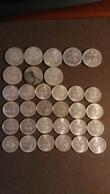 Lot De 32 Pièces 1 Francs Et 2 Francs Semeuse Argent 1898 à 1920 - France