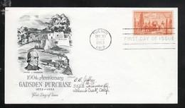 USA 1953, 1 Brief Mit 1xMiNr. 648, Kaktus / USA 1953, 1 Cover With 1x MiNr. 648, Cactus - Sukkulenten