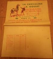 Papier D'emballage Boucherie Vers 1930 Chevaline R. Gosset Paris Spécialités Rosbif & Bifteack Haché - Alimentaire