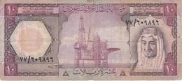 BILLETE DE ARABIA SAUDITA DE 10 RIYAL DEL AÑO 1977   (BANKNOTE) - Arabie Saoudite