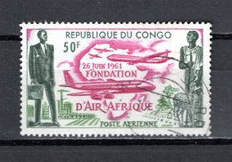 CONGO  PA  N° 5  OBLITERE  COTE  1.20€ AIR AFRIQUE  AVION - Congo - Brazzaville