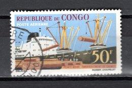 CONGO  PA  N° 6  OBLITERE  COTE  1.00€   FOIRE  BATEAUX  BOIS - Congo - Brazzaville